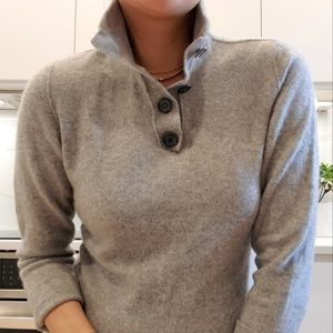 100% Cashmere henley sweater